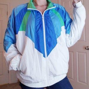 Vintage 90's Lavon Blue/Green Full Zip Jacket